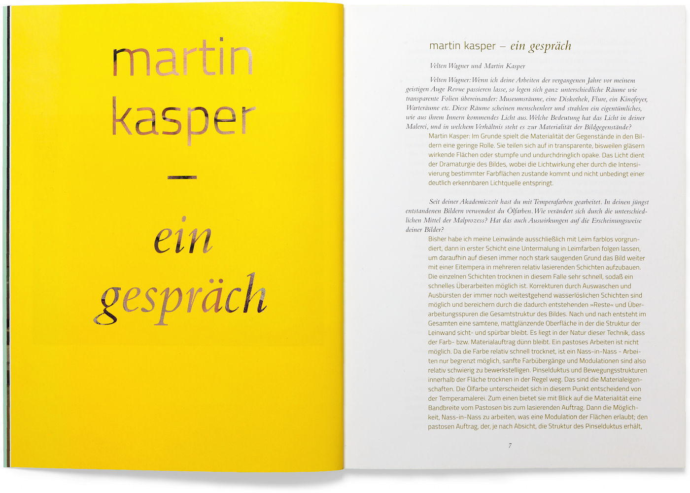 Martin Kasper Katalog Interview deutsch